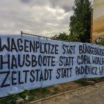 PM: Wagengruppe DieselA eröffnet einen Kiez-Raum auf der besetzten Brache an der Rummelsburger Bucht
